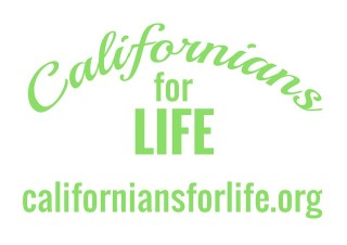 Californians for Life Logo with website address