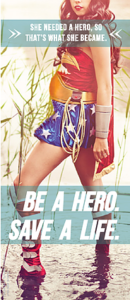 Sidewalk Counseling Super Hero pamphlet front cover
