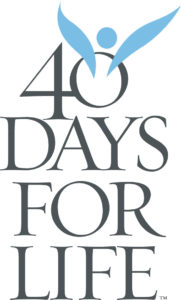 The fall 40 Days for Life starts September 28th!