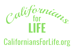 Californians for Life Transparent Logo with website in caps